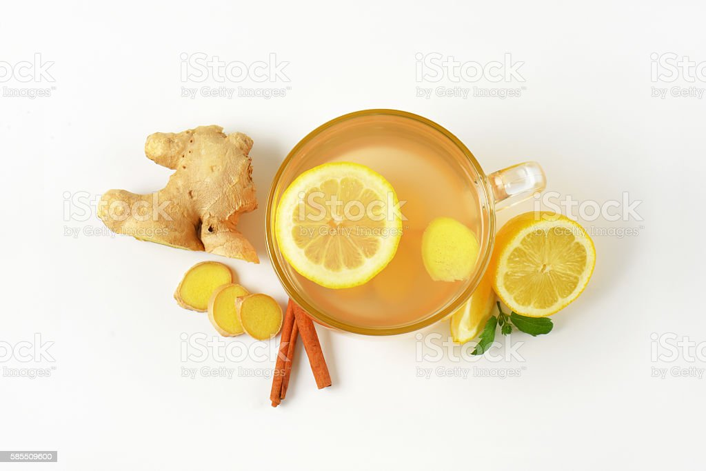cup of ginger tea stock photo