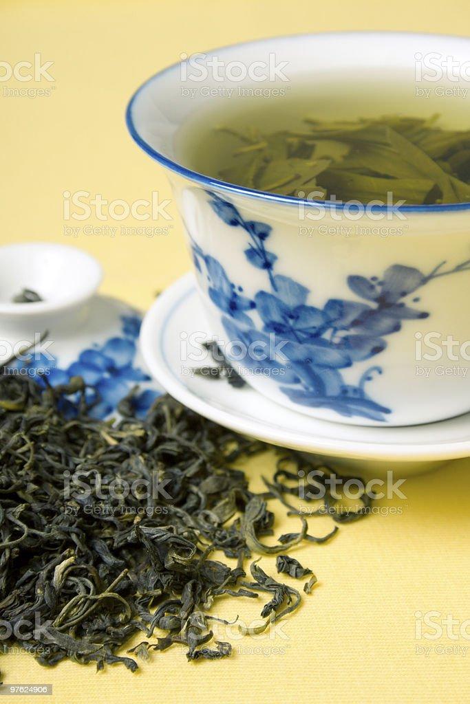 cup of green tea royaltyfri bildbanksbilder