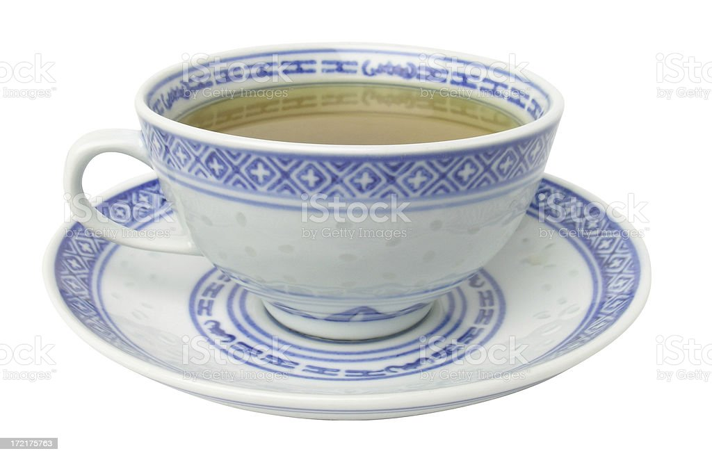 Cup of Green Tea w/ clipping path royalty-free stock photo