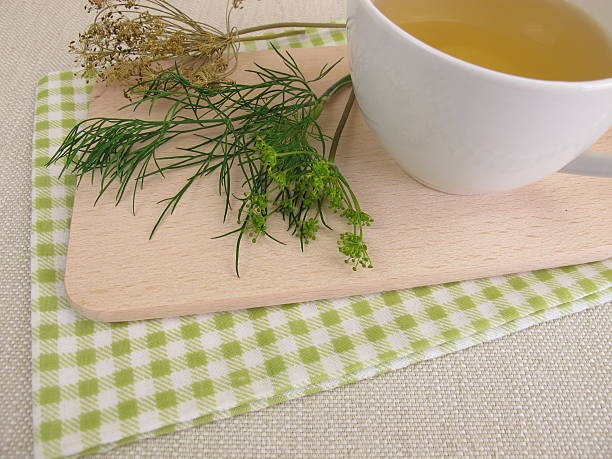 Cup of herbal tea with dill stock photo