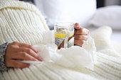Herbal Tea, Tea - Hot Drink, Winter, Lemon, Cup, Getting Sick, illness