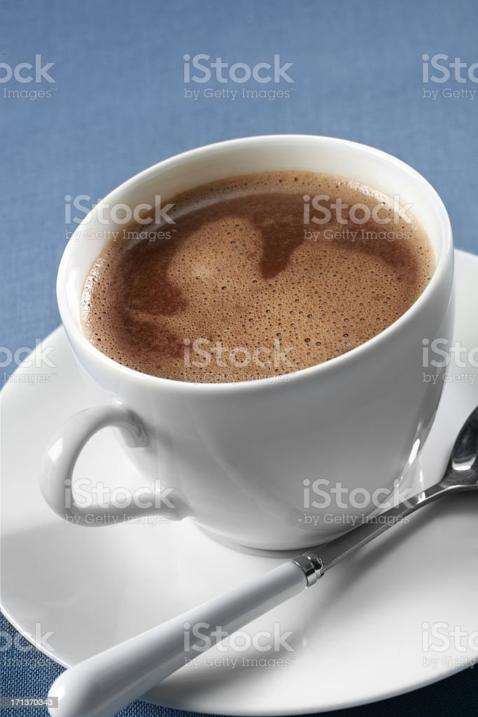 Cup of Hot Chocolate or Mocha stock photo