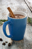 a cup of hot chocolate for the holidays