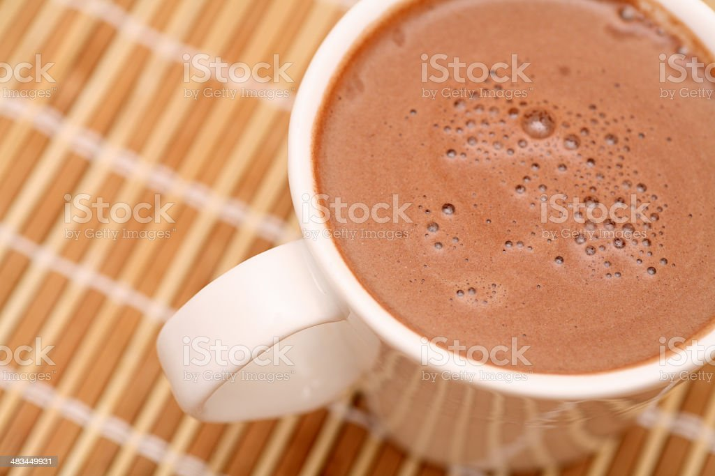 Cup of  hot chocolate royalty-free stock photo