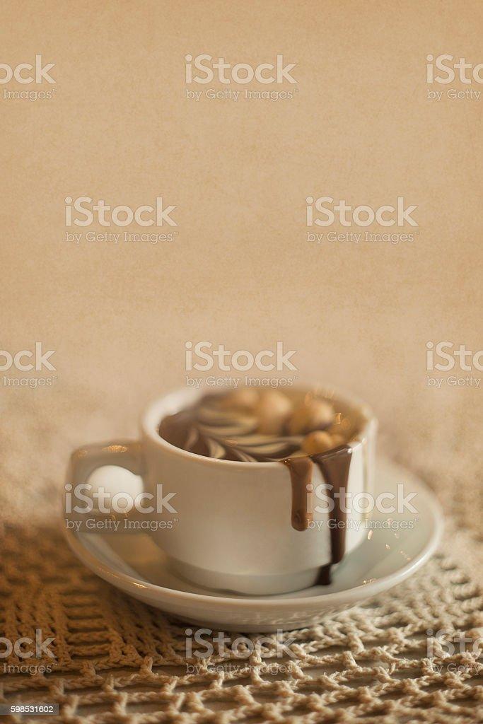 Tasse de chocolat chaud photo libre de droits