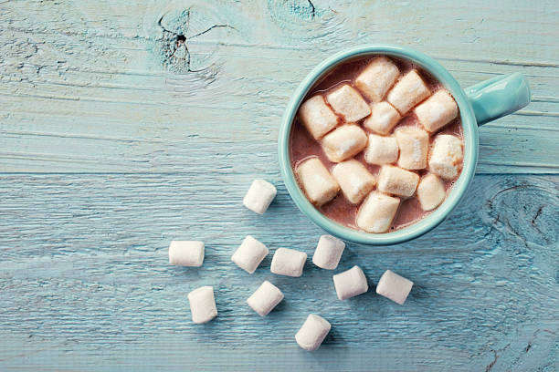 cup of hot cocoa - hot chocolate stock photos and pictures