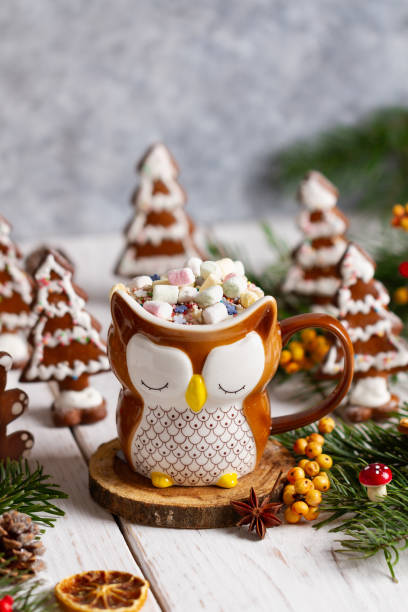 Cup of hot cocoa with marshmallows hot chocolate gingerbread trees picture id1187460007?b=1&k=6&m=1187460007&s=612x612&w=0&h=n0majnnnhekh4 b5uyj imta0e8gk0bks0qmfvzyozi=