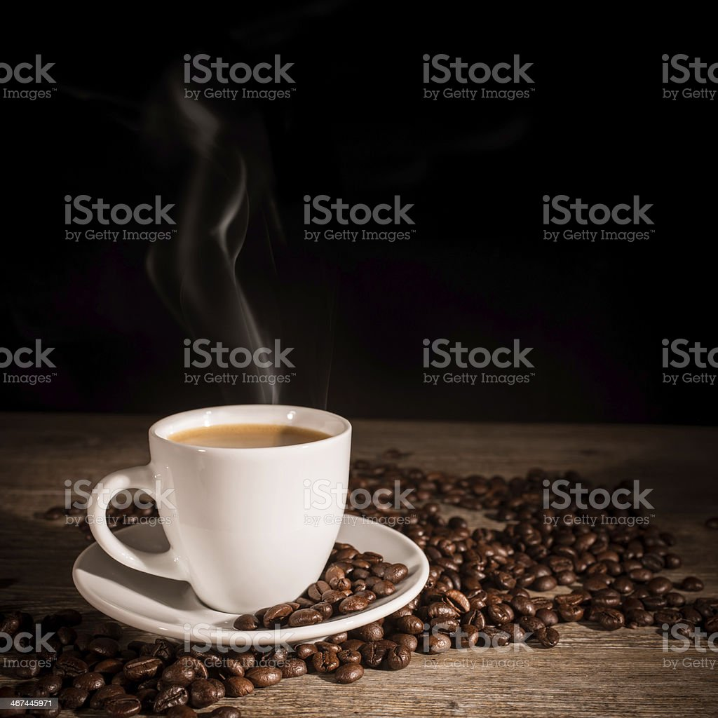 ... Cup Of Hot Coffee Stock Photo ...