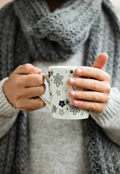 Cup of hot drink stock photo