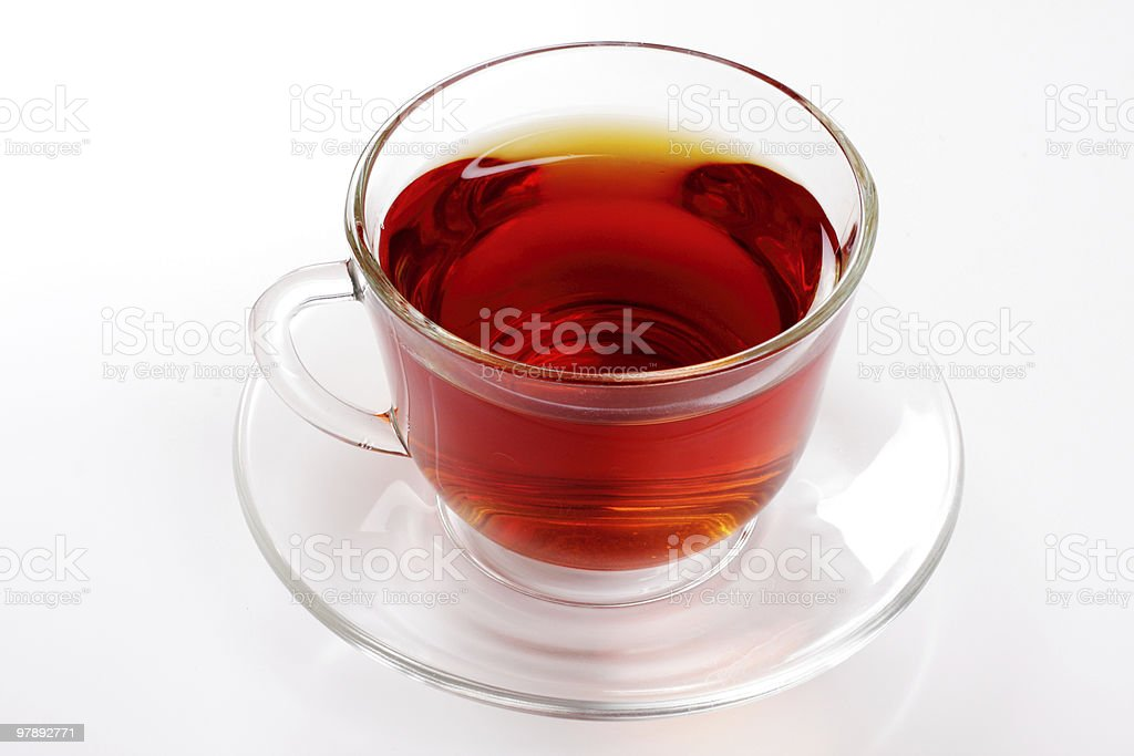 Cup of hot tea over white, studio isolated royalty-free stock photo