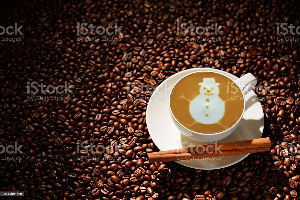 Cup of latte art stock photo