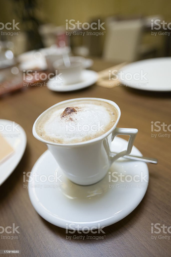 Cup of Melange royalty-free stock photo
