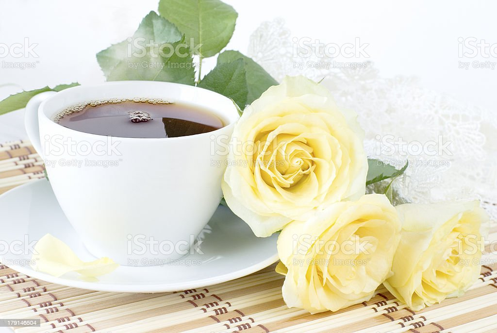 cup of morning tea royalty-free stock photo