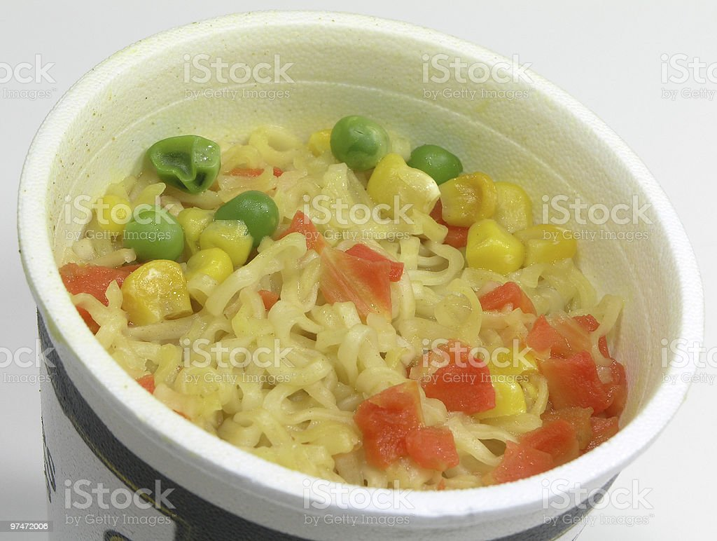 Cup of Noodles royalty-free stock photo