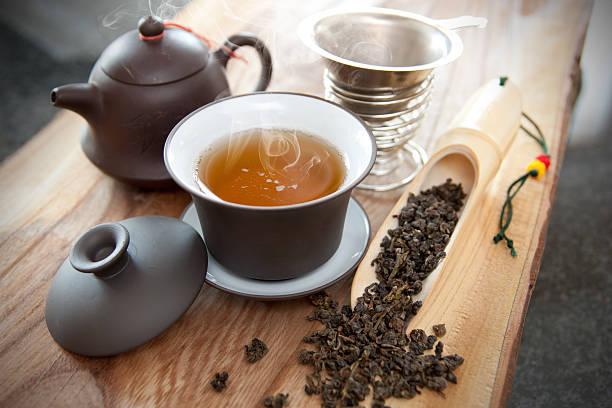 Tasse oolong-Tee und Zubehör – Foto