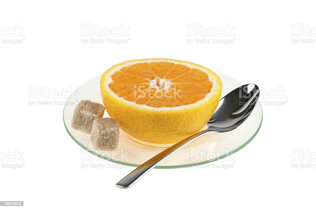 cup of orange royalty-free stock photo