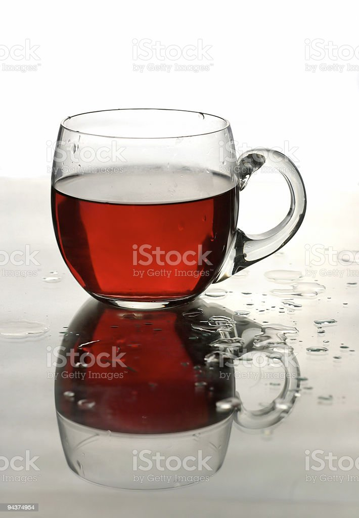 Cup of roibos fruit tea royalty-free stock photo
