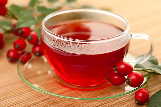 Cup of Rose Hip Tea stock photo