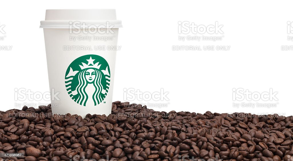 Cup of Starbucks Coffee stock photo