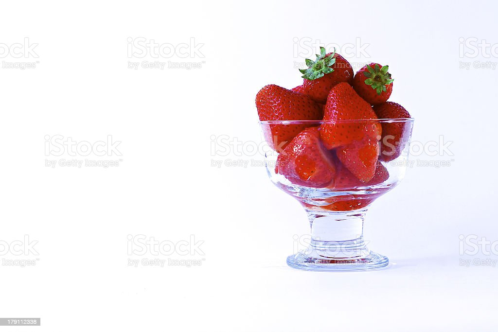 Cup of strawberries royalty-free stock photo