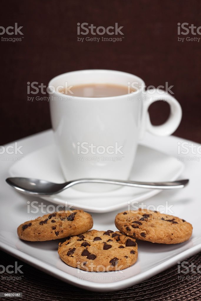 Cup of Tea and Biscuits royalty-free stock photo