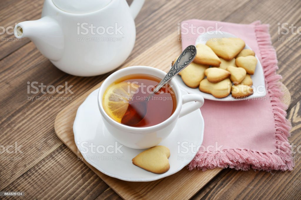 Cup of tea and cookies royalty-free stock photo
