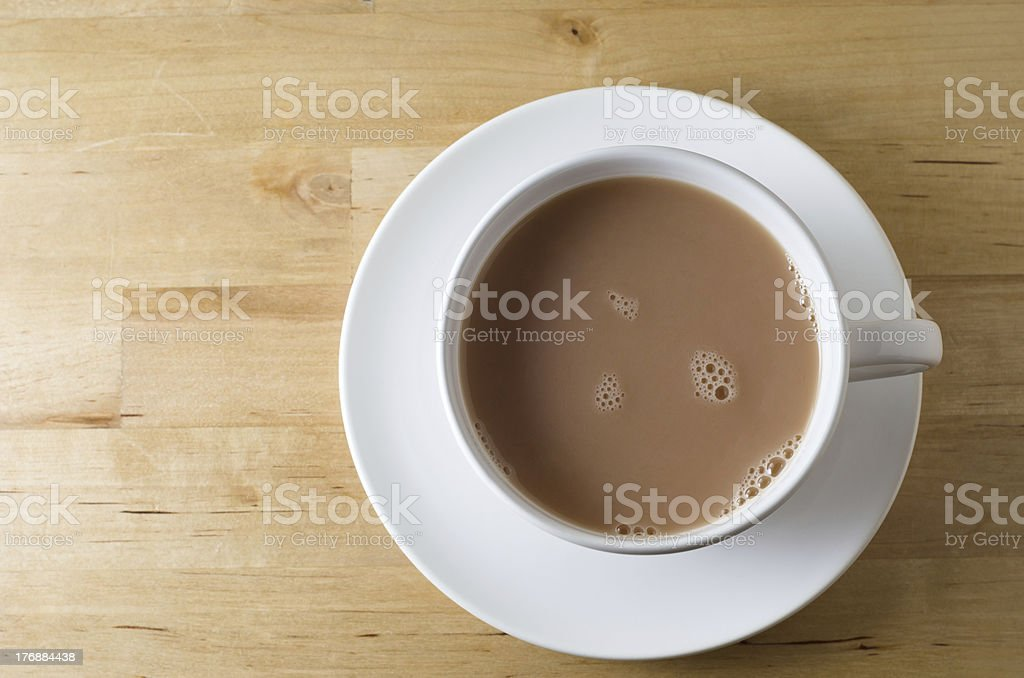 Cup of Tea from Above stock photo