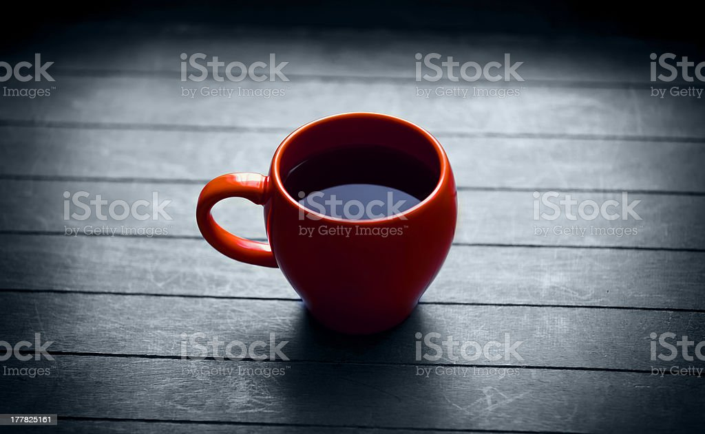 Cup of tea in vintage colour style. royalty-free stock photo