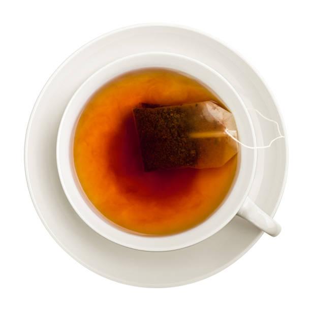 cup of tea, isolated on white background, clipping path, full depth of field - immagini su sfondo bianco foto e immagini stock