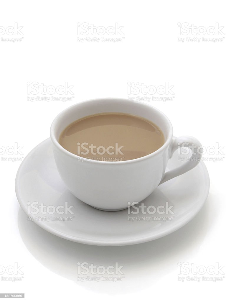Cup of Tea Isolated on White Background royalty-free stock photo