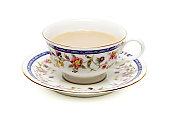 紅茶にミルク、ホワイト