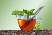 istock Cup of tea with peppermint and lemon balm 480067775