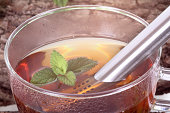 istock Cup of tea with peppermint and lemon balm 480067923