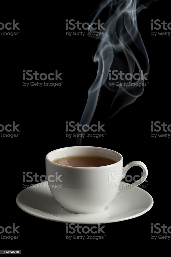 cup of tea with steam royalty-free stock photo