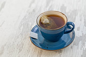 istock Cup of tea with teabag 1088221334