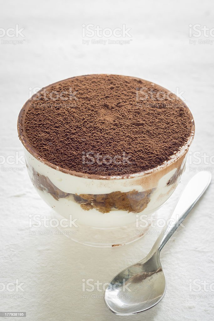 Cup of Tiramisu royalty-free stock photo