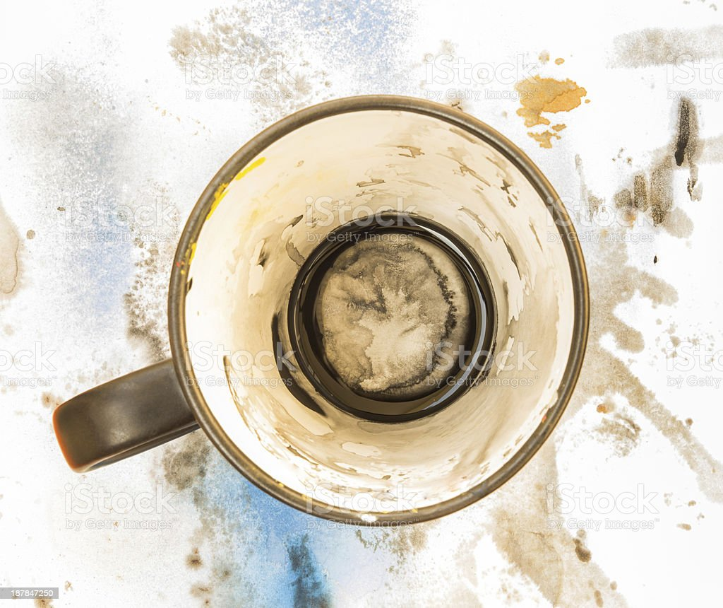 cup on dirty paper royalty-free stock photo