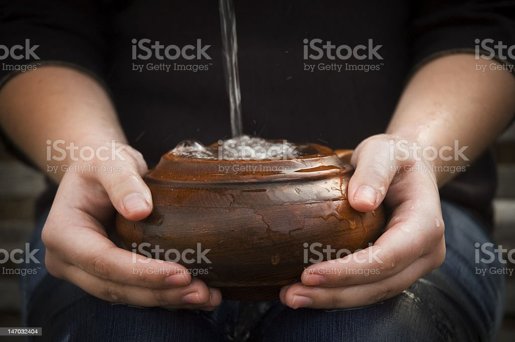 Cup Runneth Over Horizontal stock photo