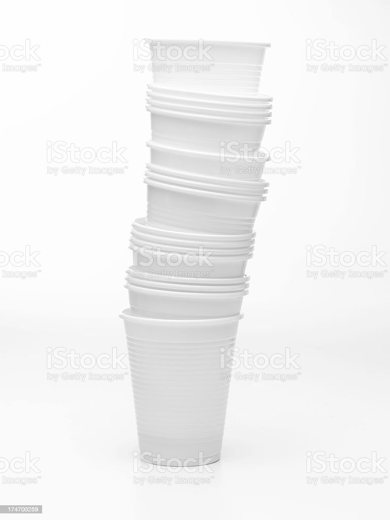 cup tower royalty-free stock photo