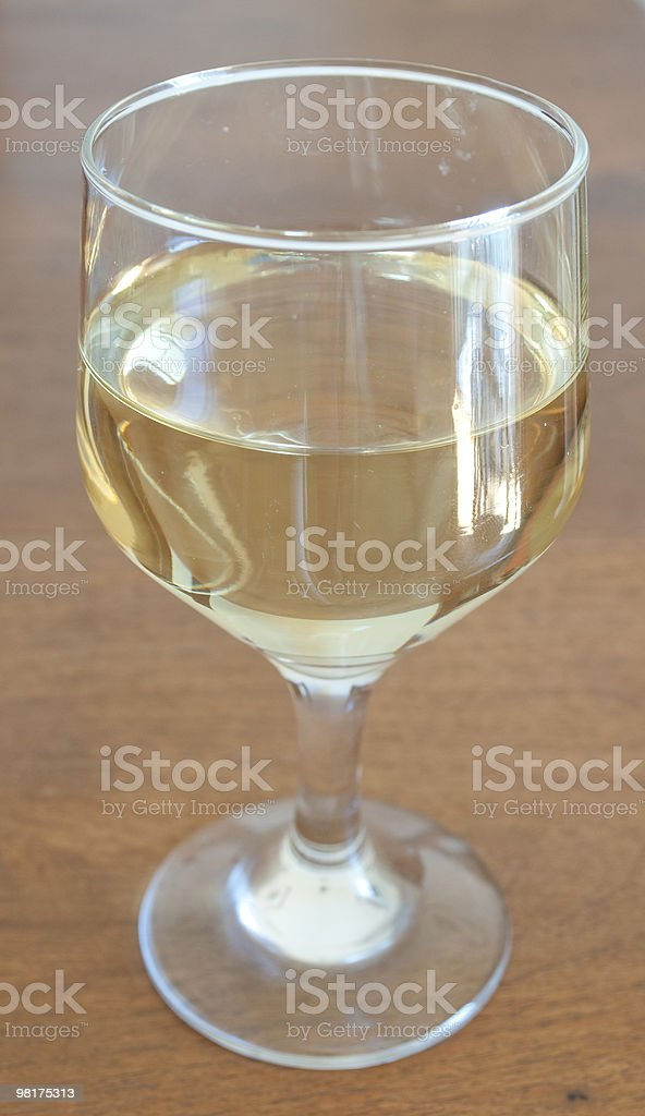 cup white wine royalty-free stock photo