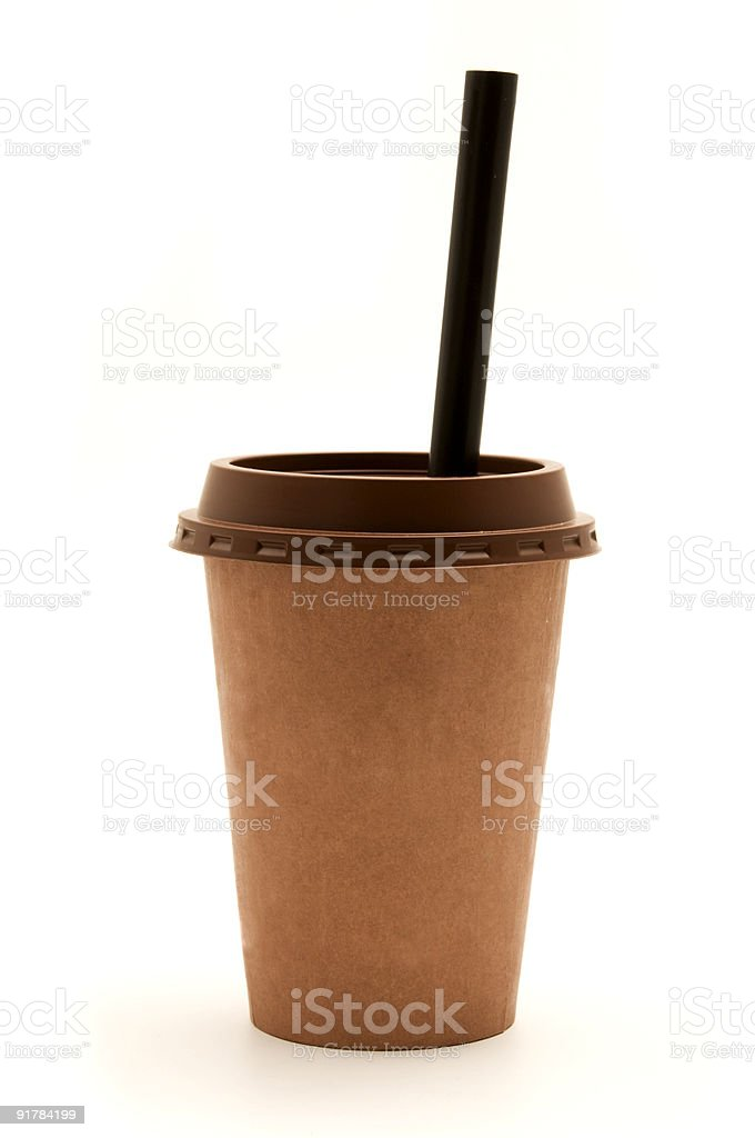 Cup with a straw royalty-free stock photo