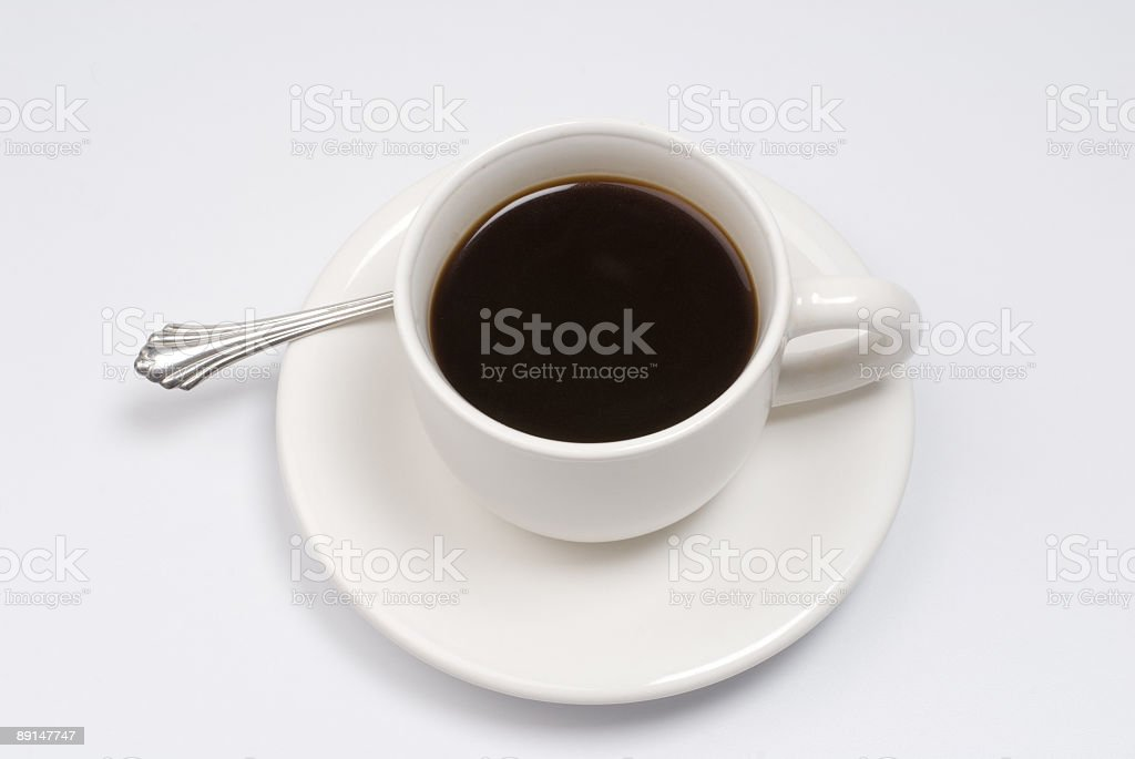 Cup with black coffee royalty-free stock photo