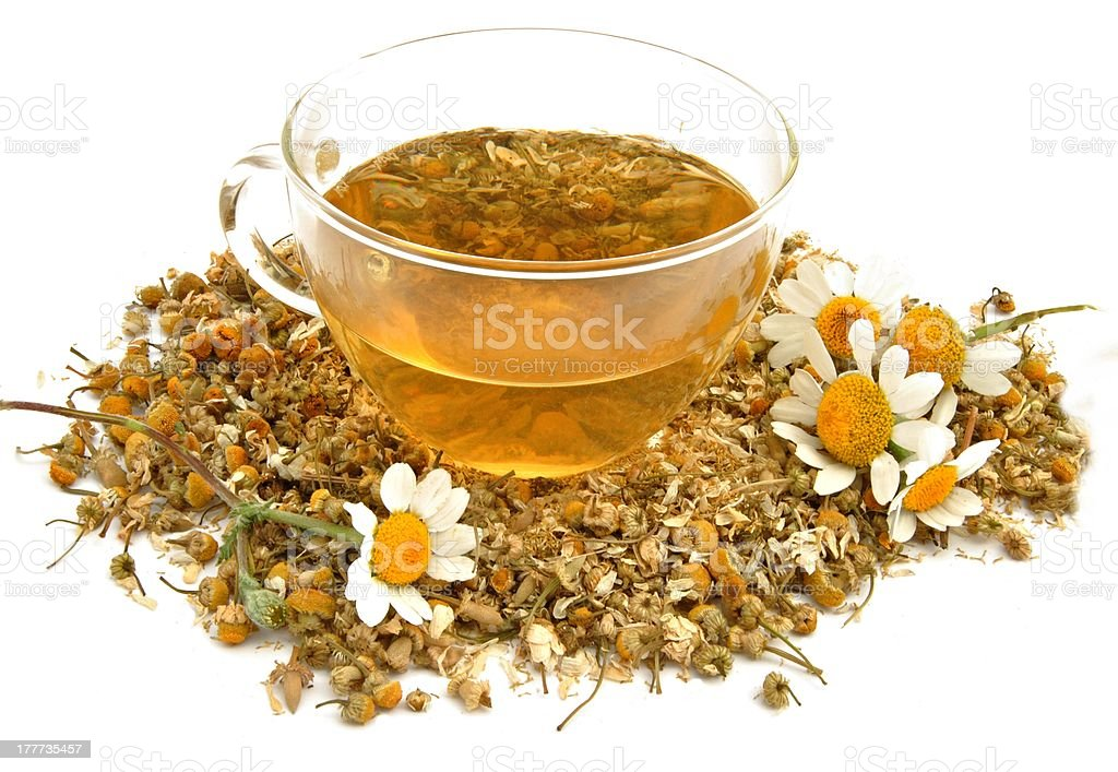 Cup with chamomile royalty-free stock photo