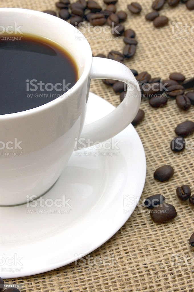 cup with coffee beans - Royalty-free Bag Stock Photo