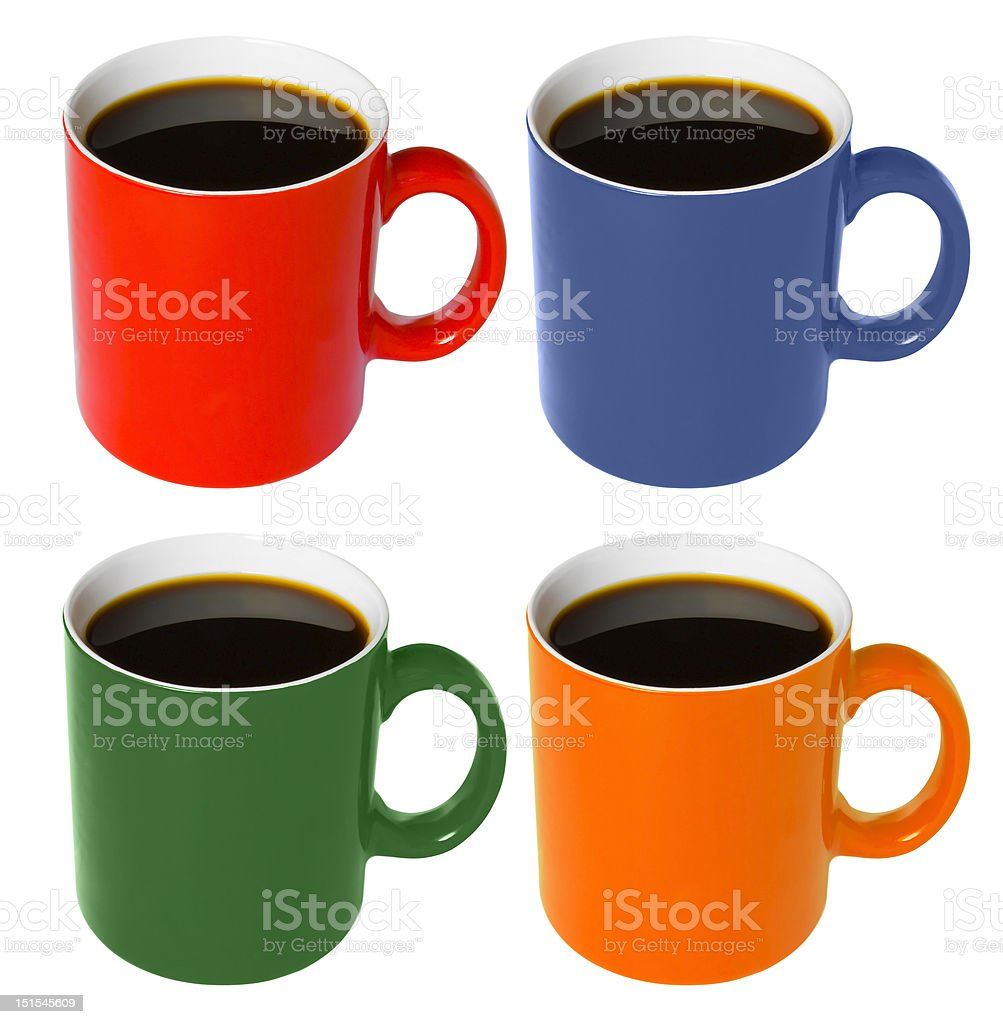 Cup - with coffee stock photo