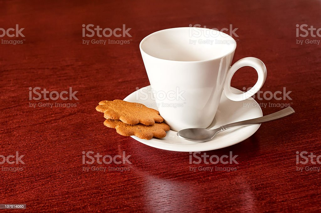 cup with cookies royalty-free stock photo