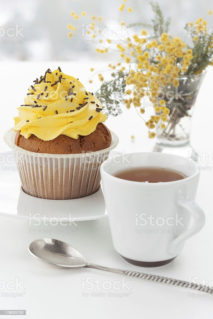 Cup with dessert royalty-free stock photo