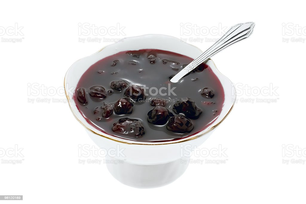 Cup with jam royalty-free stock photo