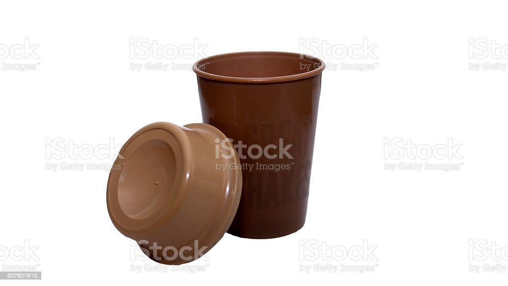 Cup with lid stock photo