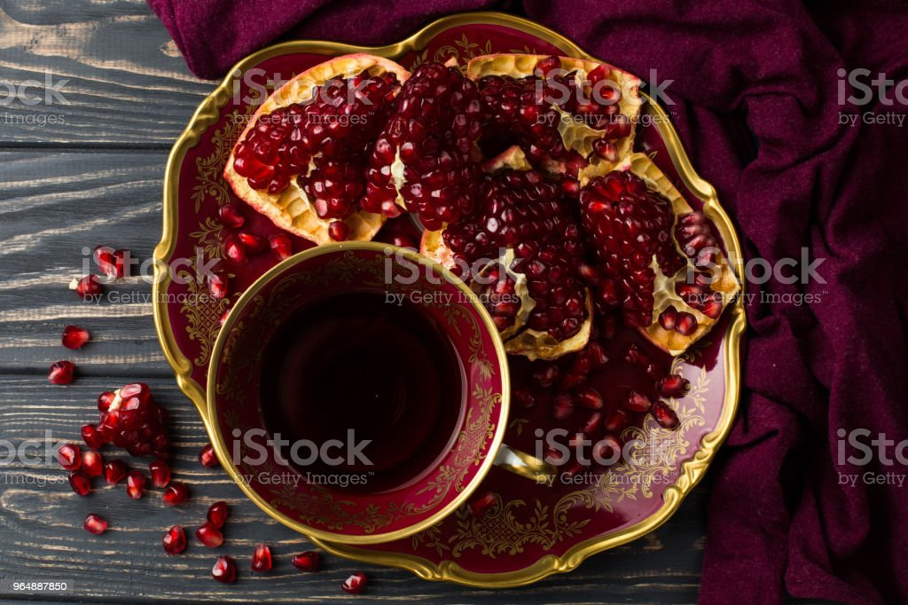 cup with red juice on the table royalty-free stock photo